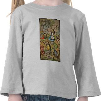 Alicia en cubierta del país de las maravillas camisetas