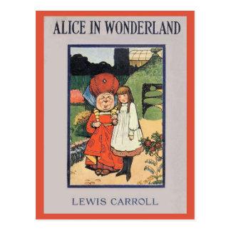 Alicia en cubierta del país de las maravillas tarjeta postal