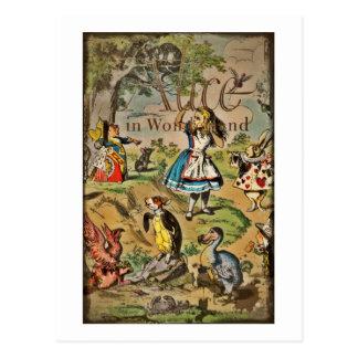 Alicia en cubierta del país de las maravillas tarjetas postales