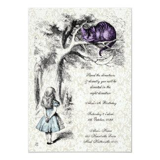 Alicia en cumpleaños de la fiesta del té de invitación 12,7 x 17,8 cm