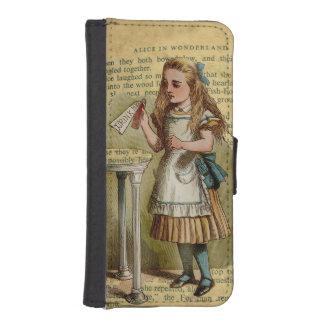 Alicia en diseño del vintage del país de las billetera para iPhone 5