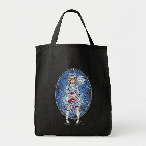Alicia en el bolso gótico de Delphineland Bolsas Lienzo