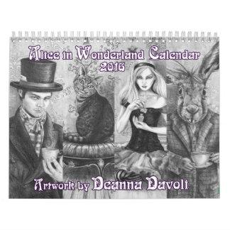 Alicia en el calendario del país de las maravillas