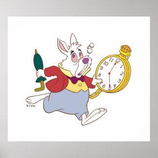 Alicia en el conejo blanco del país de las póster
