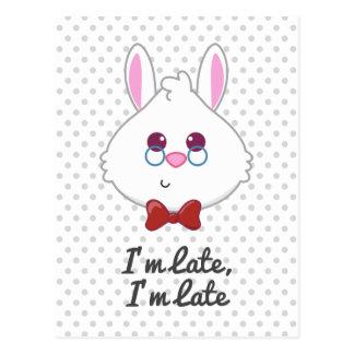 Alicia en el conejo blanco Emoji del país de las Postal