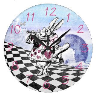 Alicia en el conejo Herald del país de las maravil Relojes De Pared