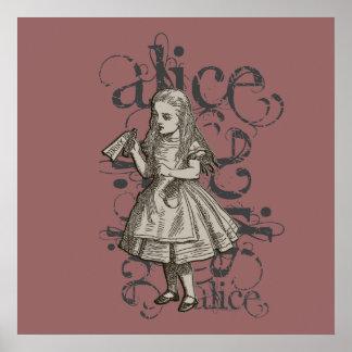 Alicia en el Grunge del país de las maravillas (ro Poster