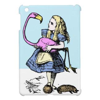 Alicia en el ipad del croquet del flamenco del paí iPad mini cobertura