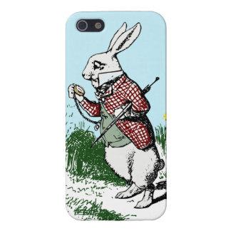Alicia en el iphone blanco 5 del conejo del país d iPhone 5 funda
