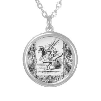 Alicia en el marco adornado Vinta del cuerno del c Pendiente Personalizado