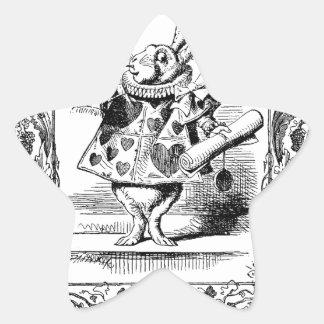 Alicia en el marco adornado Vinta del cuerno del Pegatina En Forma De Estrella