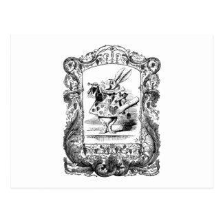 Alicia en el marco adornado Vinta del cuerno del Postales