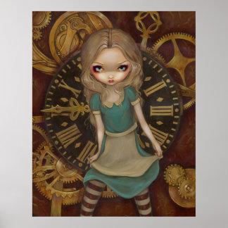 Alicia en el mecanismo - steampunk en la impresión póster
