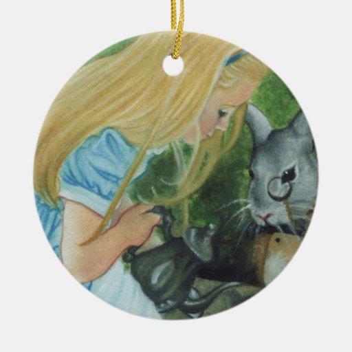 Alicia en el ornamento del navidad del país de las ornamentos para reyes magos