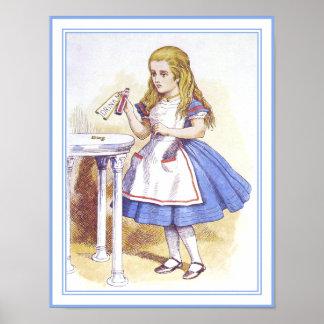 Alicia en el país de las maravillas - bébame poster