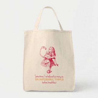 Alicia en el país de las maravillas bolsa tela para la compra