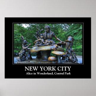 Alicia en el país de las maravillas - Central Park Posters
