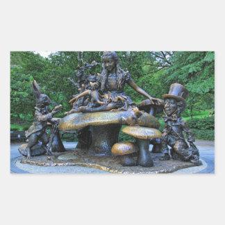 Alicia en el país de las maravillas - Central Park Pegatina Rectangular