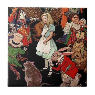 Alicia en el país de las maravillas con el ejemplo azulejo cuadrado pequeño