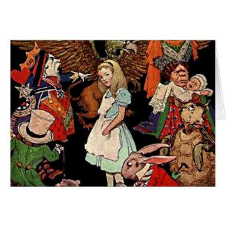 Alicia en el país de las maravillas con el ejemplo tarjeta pequeña