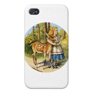 Alicia en el país de las maravillas con un ciervo  iPhone 4/4S carcasa