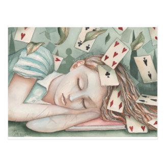 Alicia en el país de las maravillas dormido tarjetas postales