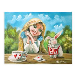 Alicia en el país de las maravillas el conejo postales