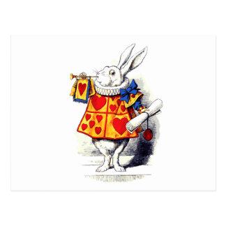 Alicia en el país de las maravillas el conejo tarjetas postales