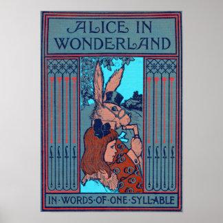 Alicia en el país de las maravillas 'en palabras póster