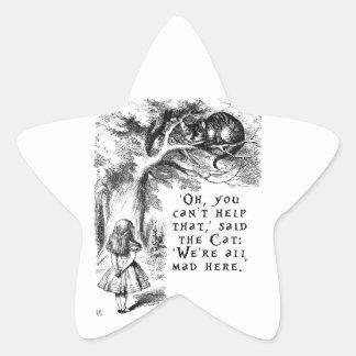 Alicia en el país de las maravillas - estamos pegatina en forma de estrella