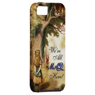 Alicia en el país de las maravillas estamos todos iPhone 5 cárcasa