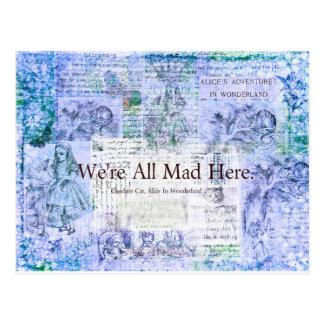 Alicia en el país de las maravillas estamos todos postales