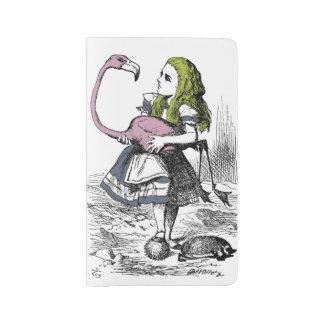 Alicia en el país de las maravillas funda para libreta y libreta grande moleskine