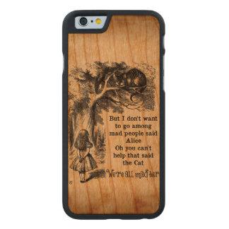 Alicia en el país de las maravillas; Gato de Funda De iPhone 6 Carved® Slim De Cerezo