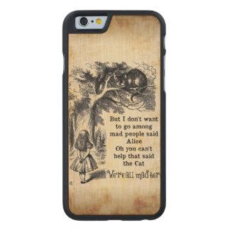 Alicia en el país de las maravillas; Gato de Funda De iPhone 6 Carved® Slim De Arce