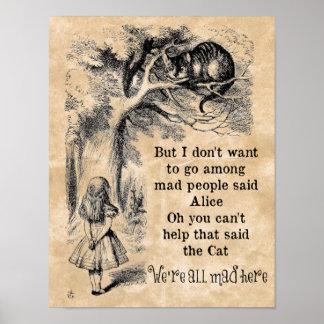 Alicia en el país de las maravillas; Gato de Impresiones