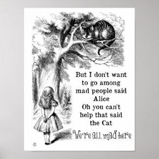 Alicia en el país de las maravillas; Gato de Poster