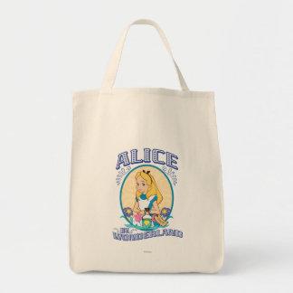 Alicia en el país de las maravillas - marco bolsa tela para la compra