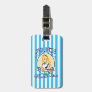 Alicia en el país de las maravillas - marco etiqueta para maleta