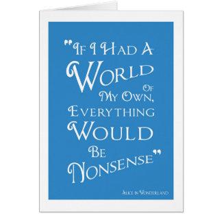 Alicia en el país de las maravillas - mundo de mi tarjeta de felicitación