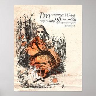 """Alicia en el país de las maravillas """"no soy poster"""