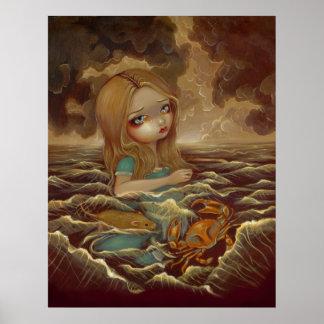 Alicia en el país de las maravillas - piscina de l póster