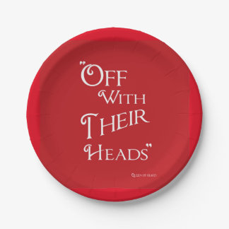 Alicia en el país de las maravillas - placas rojas plato de papel de 7 pulgadas