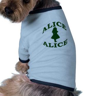 Alicia en el país de las maravillas ropa de perros