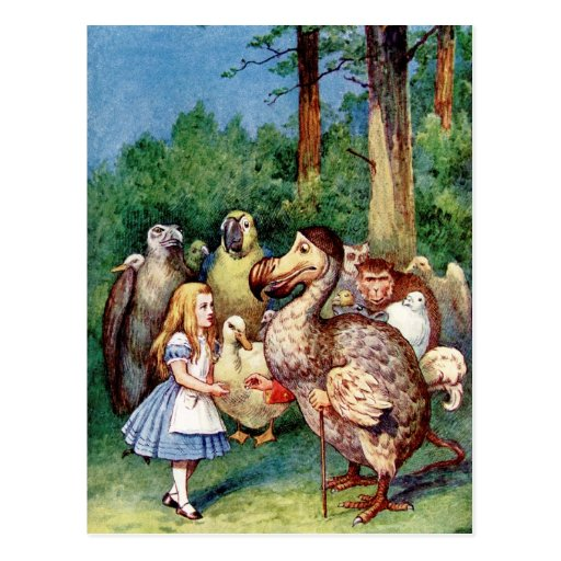 Alicia en el país de las maravillas tarjeta postal