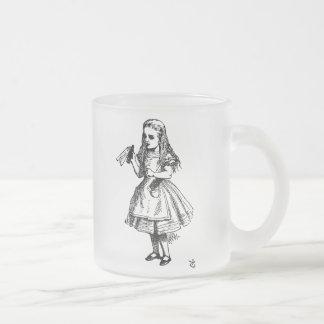 Alicia en el país de las maravillas taza cristal mate