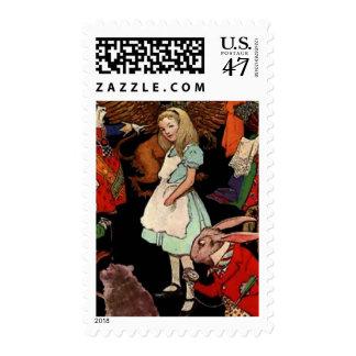 Alicia en el país de las maravillas timbre postal