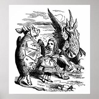 Alicia en el país de las maravillas Tortuga falsa Impresiones