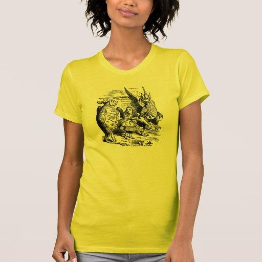 Alicia en el país de las maravillas; Tortuga falsa Camisetas