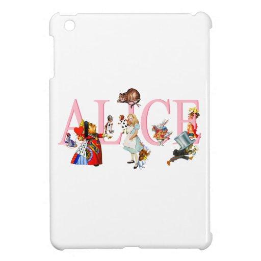 Alicia en el país de las maravillas y amigos iPad mini cárcasas